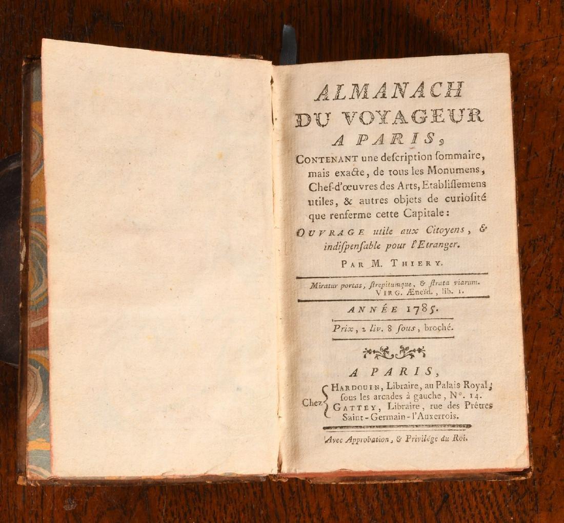 BOOKS: Thiery 1785 Almanach du Voyageur a Paris - 3