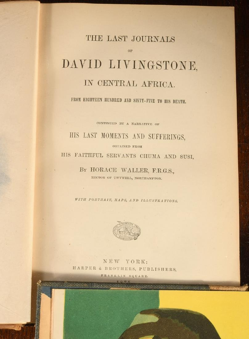 BOOKS: (3) Vols History & Exploration Livingstone - 5