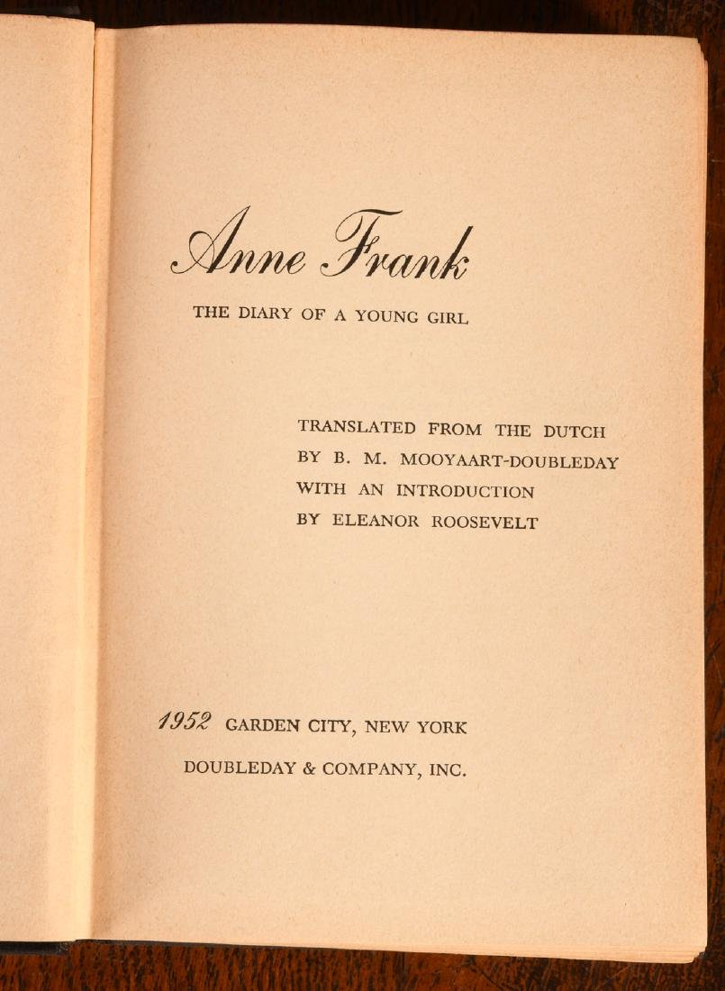BOOKS: Anne Frank 1952 Stated First Edition - 4