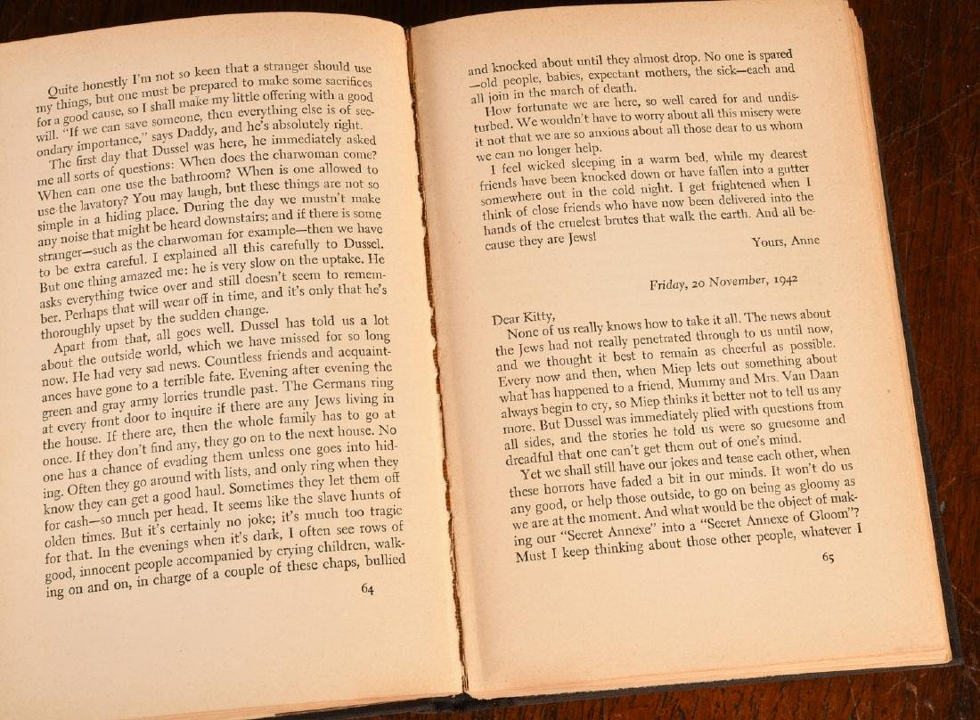 BOOKS: Anne Frank 1952 Stated First Edition - 7