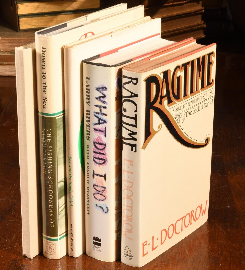 BOOKS: (5) Signed: Doctorow Larry Rivers Others