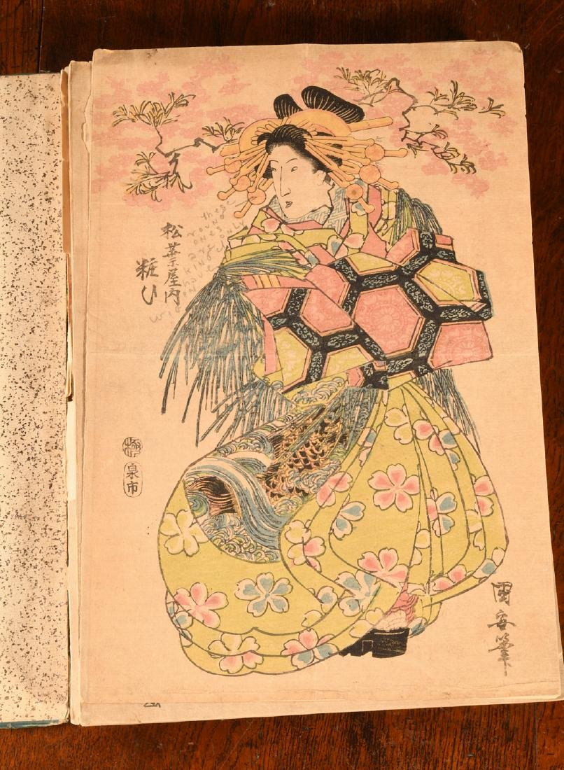 BOOKS: Album 55 Antique Japanese Prints Courtesans - 3