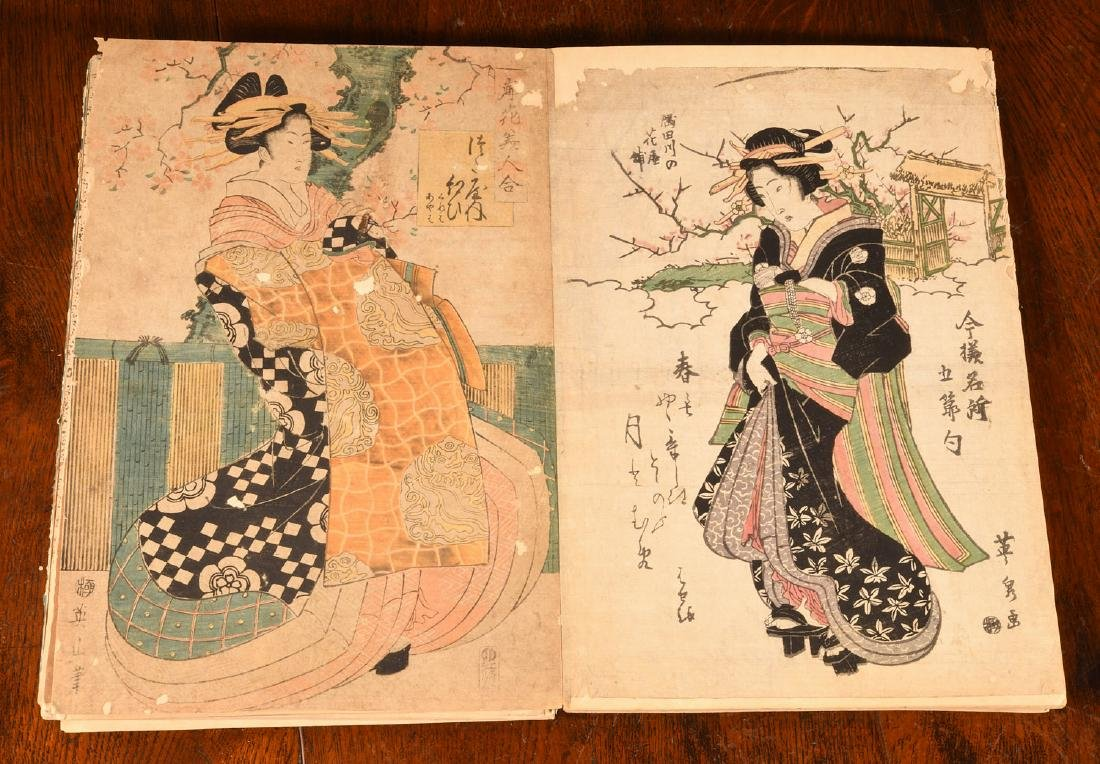 BOOKS: Album 55 Antique Japanese Prints Courtesans - 7