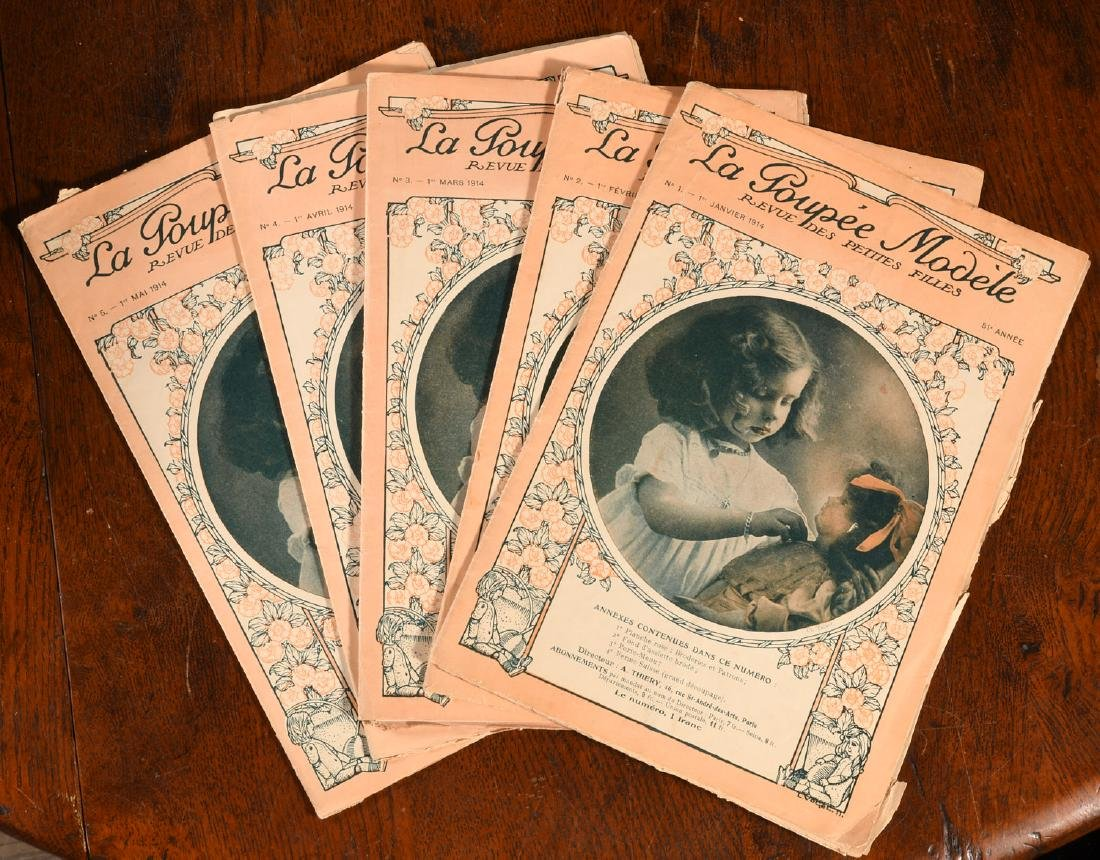 MAGAZINES: (5) Issues LA POUPEE Modele Dolls 1914