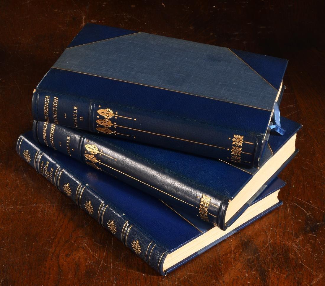 BOOKS: (3) Vols Fine Leather Binding Decorative