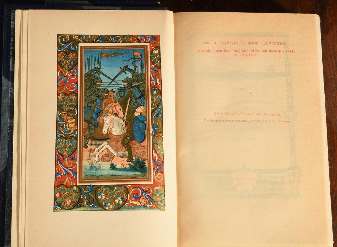 BOOKS: (3) Vols Fine Leather Binding Decorative - 6