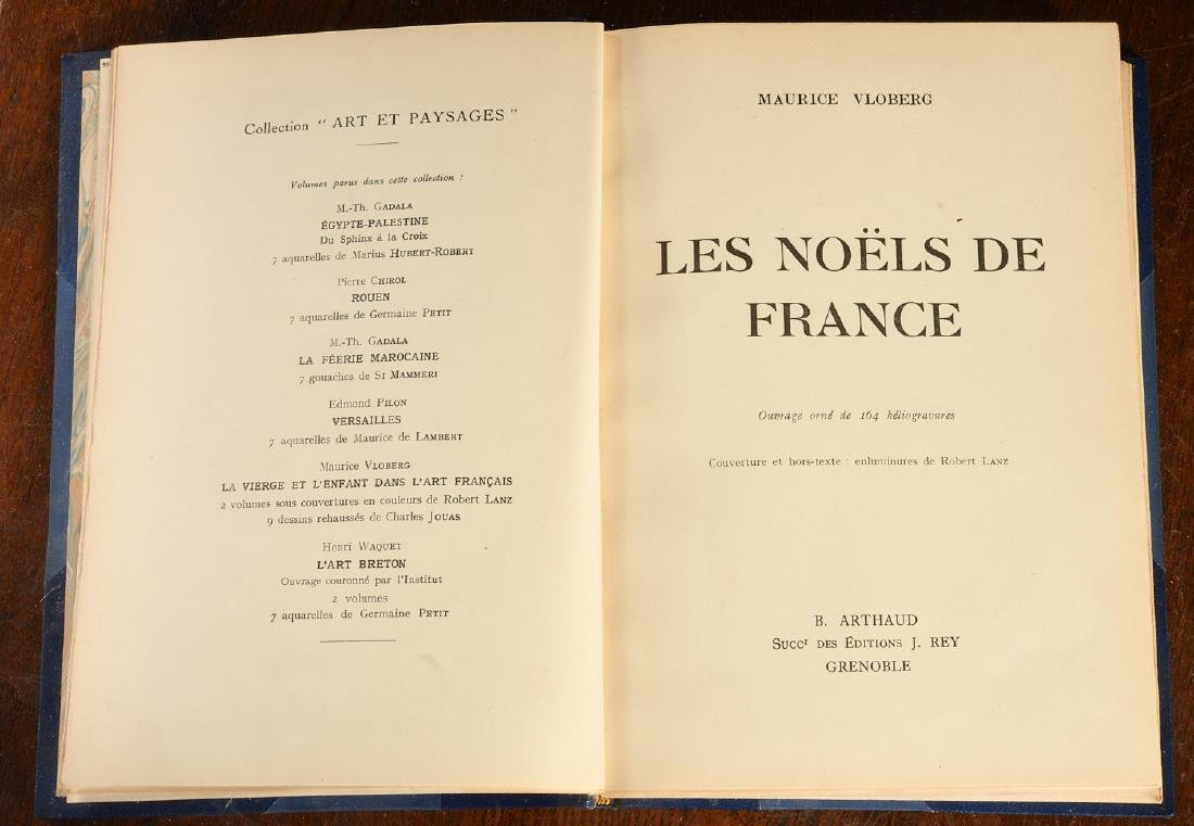 BOOKS: (3) Vols Fine Leather Binding Decorative - 8