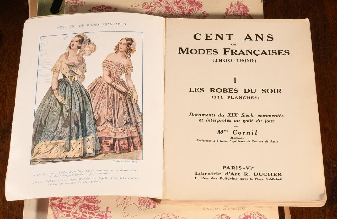 BOOKS: (7) Vols Vintage French Fashion History - 4