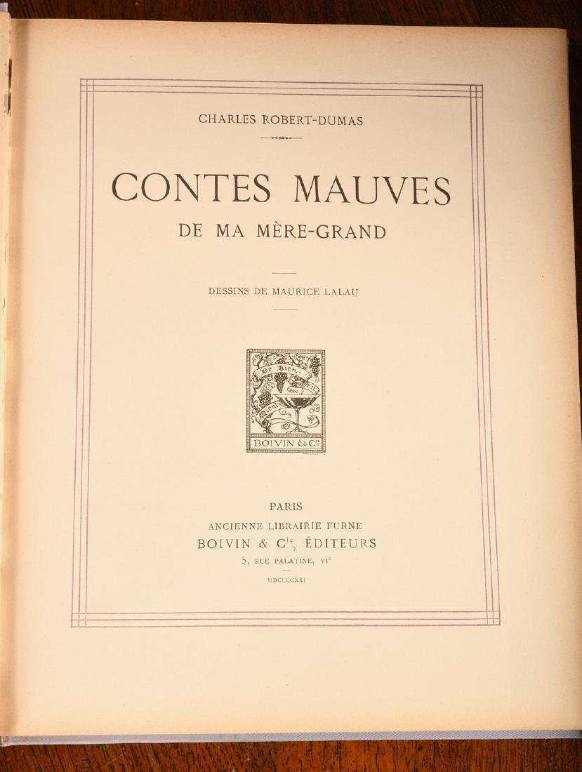 BOOKS: (2) Vols '20s French Illustrated Children's - 8