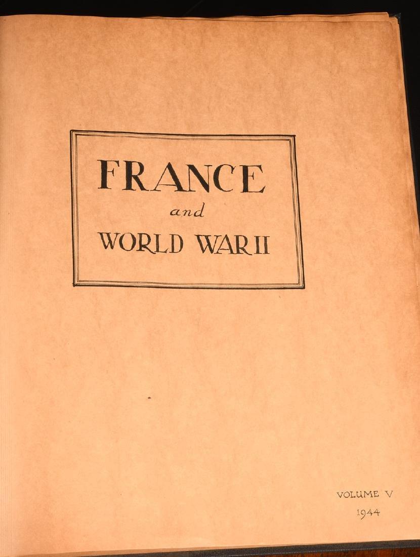 BOOKS: (7) Vols WWII Oversize Scrapbooks 1940-1946 - 2