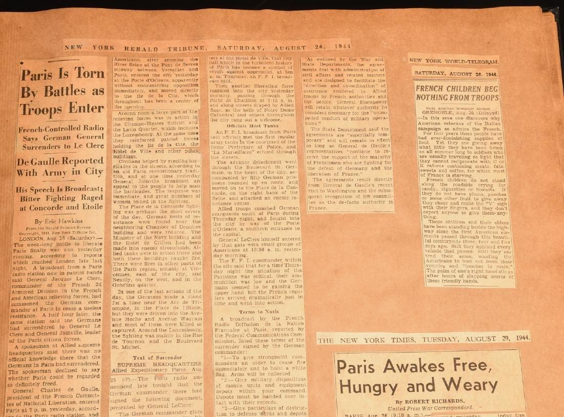 BOOKS: (7) Vols WWII Oversize Scrapbooks 1940-1946 - 4