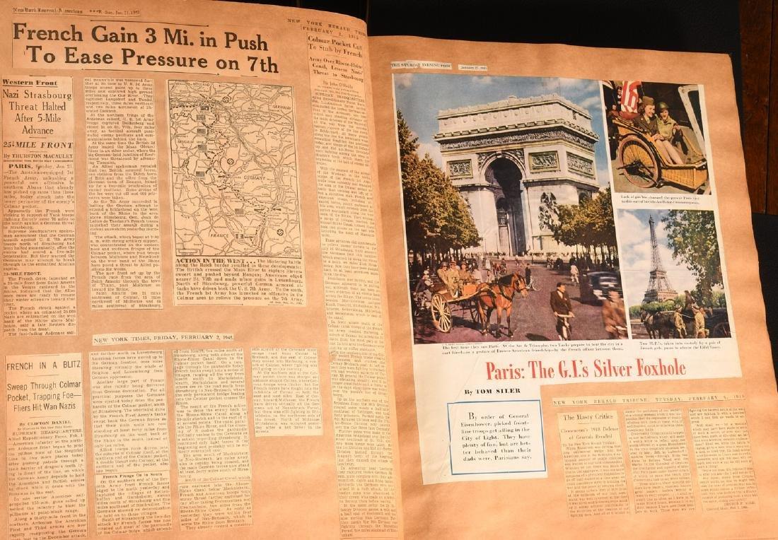 BOOKS: (7) Vols WWII Oversize Scrapbooks 1940-1946 - 7