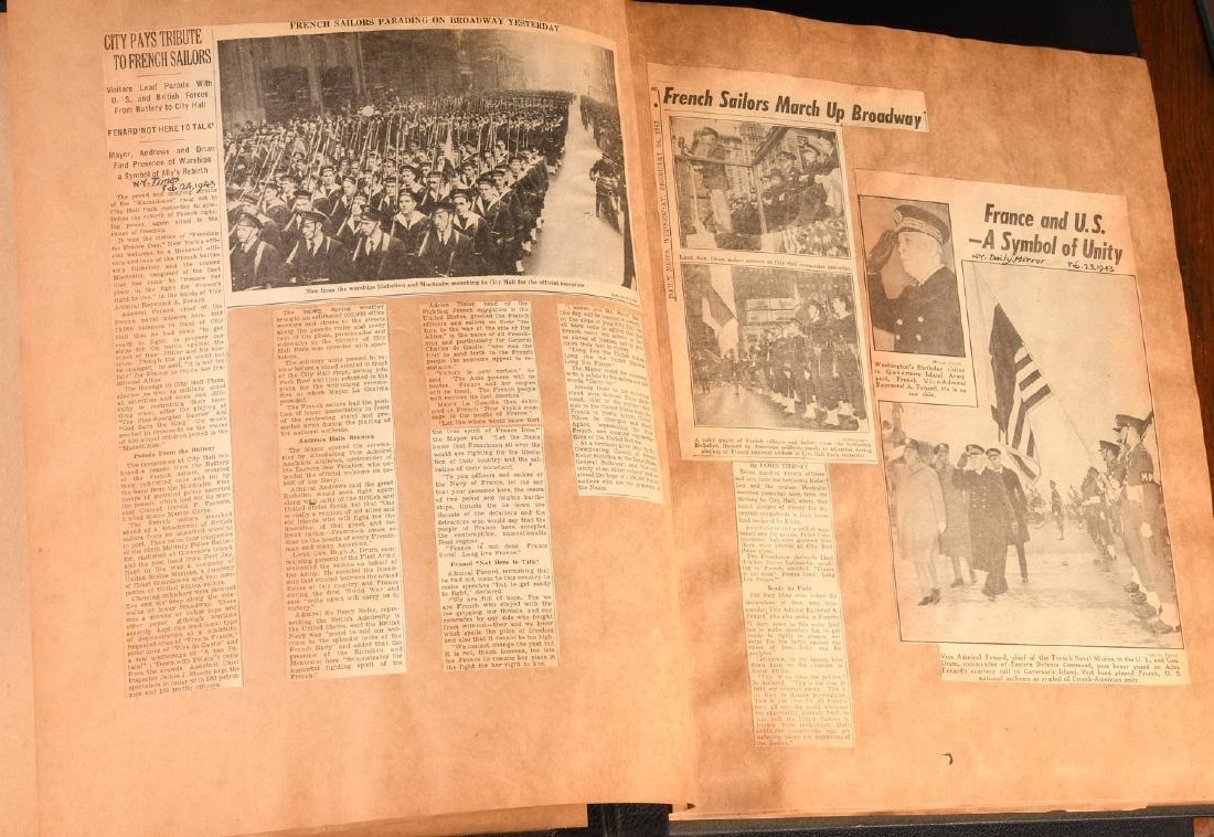 BOOKS: (7) Vols WWII Oversize Scrapbooks 1940-1946 - 8