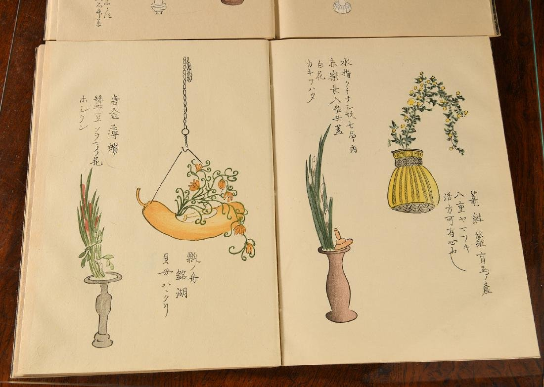 BOOKS: (2) Vols Antique Japanese Ikebana Paintings - 6