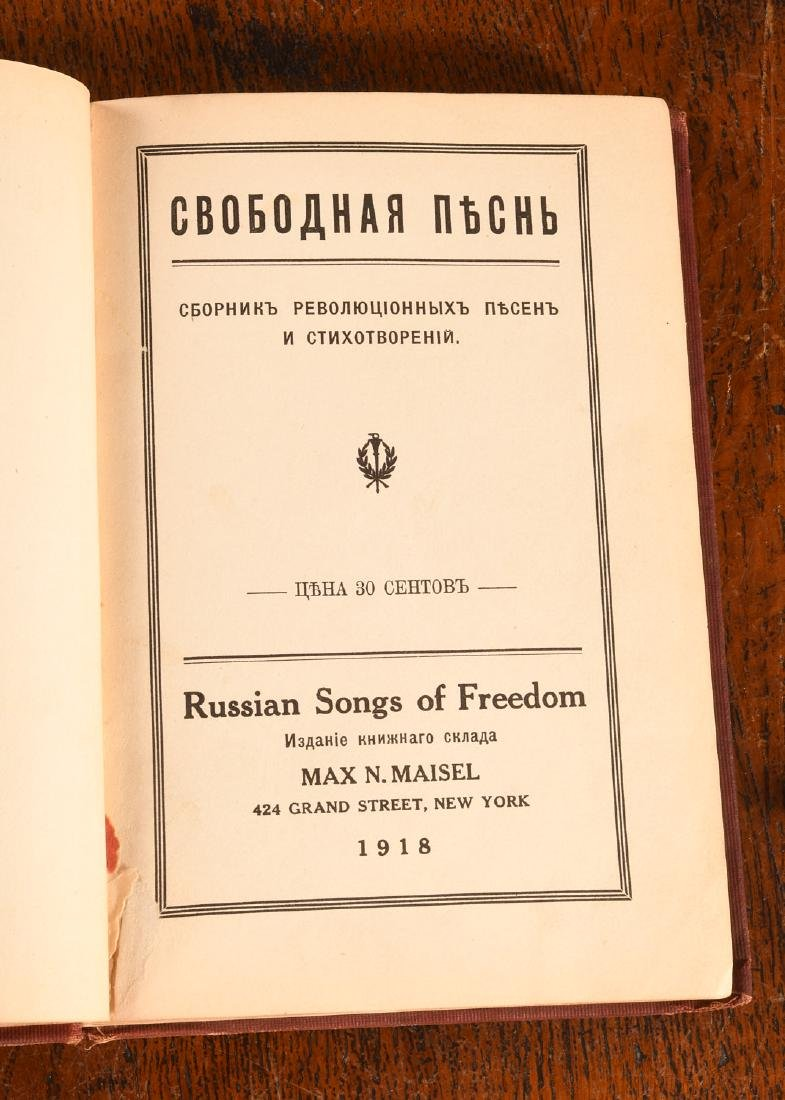 BOOKS: Russian Songs of Freedom 1918 Meisel - 2