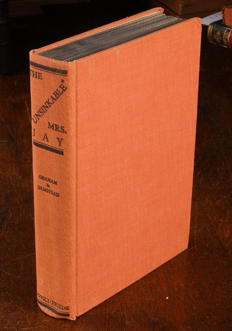 BOOKS: Signed 1934 Unsinkable Mrs. Jay Molly Brown