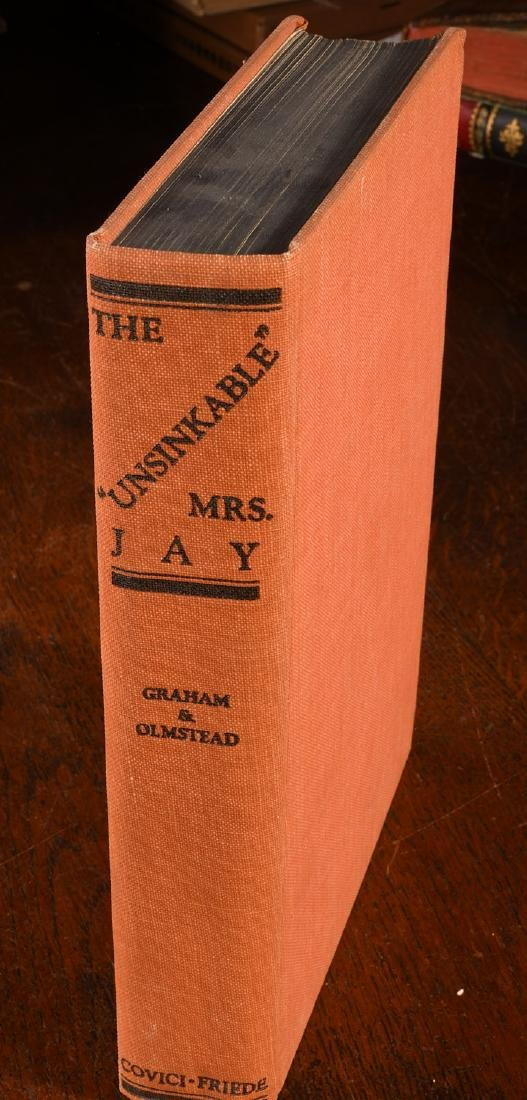 BOOKS: Signed 1934 Unsinkable Mrs. Jay Molly Brown - 2