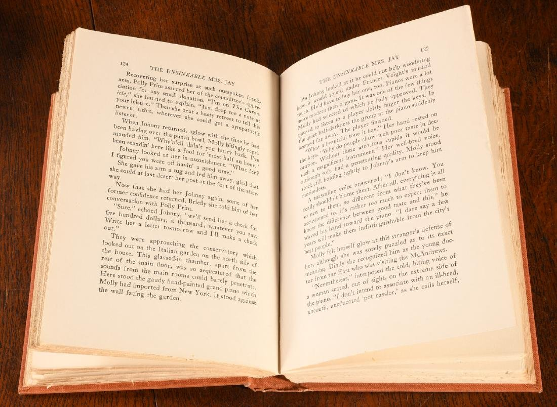 BOOKS: Signed 1934 Unsinkable Mrs. Jay Molly Brown - 5