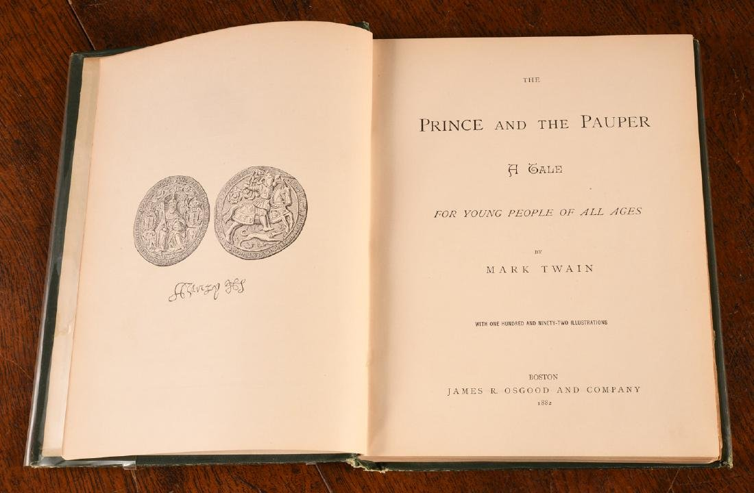 BOOKS: Twain 1882 Prince and the Pauper 1st Ed - 3