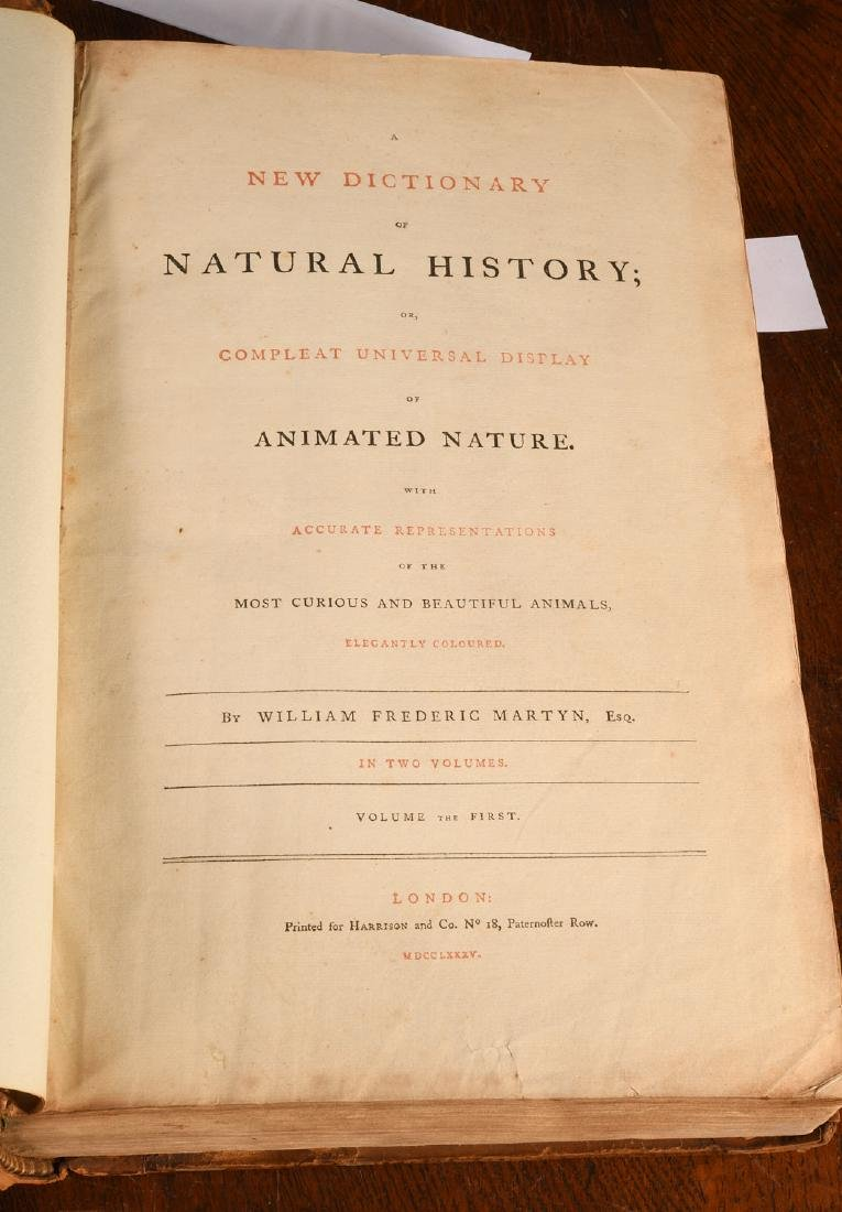 BOOKS: Martyn 1785 Dictionary of Natural History - 3