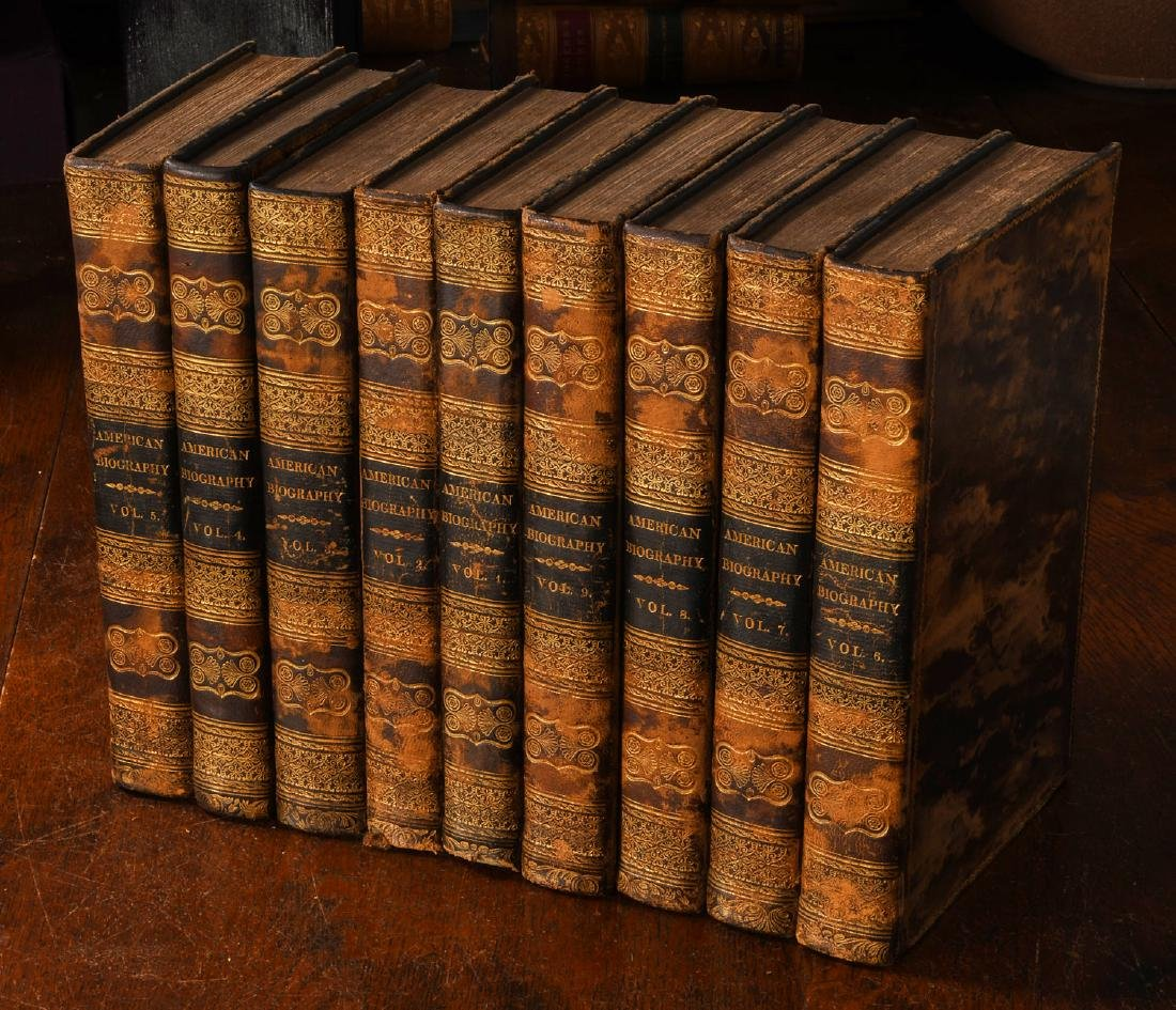 BOOKS: (9) Vols 1820 Signers of the Declaration