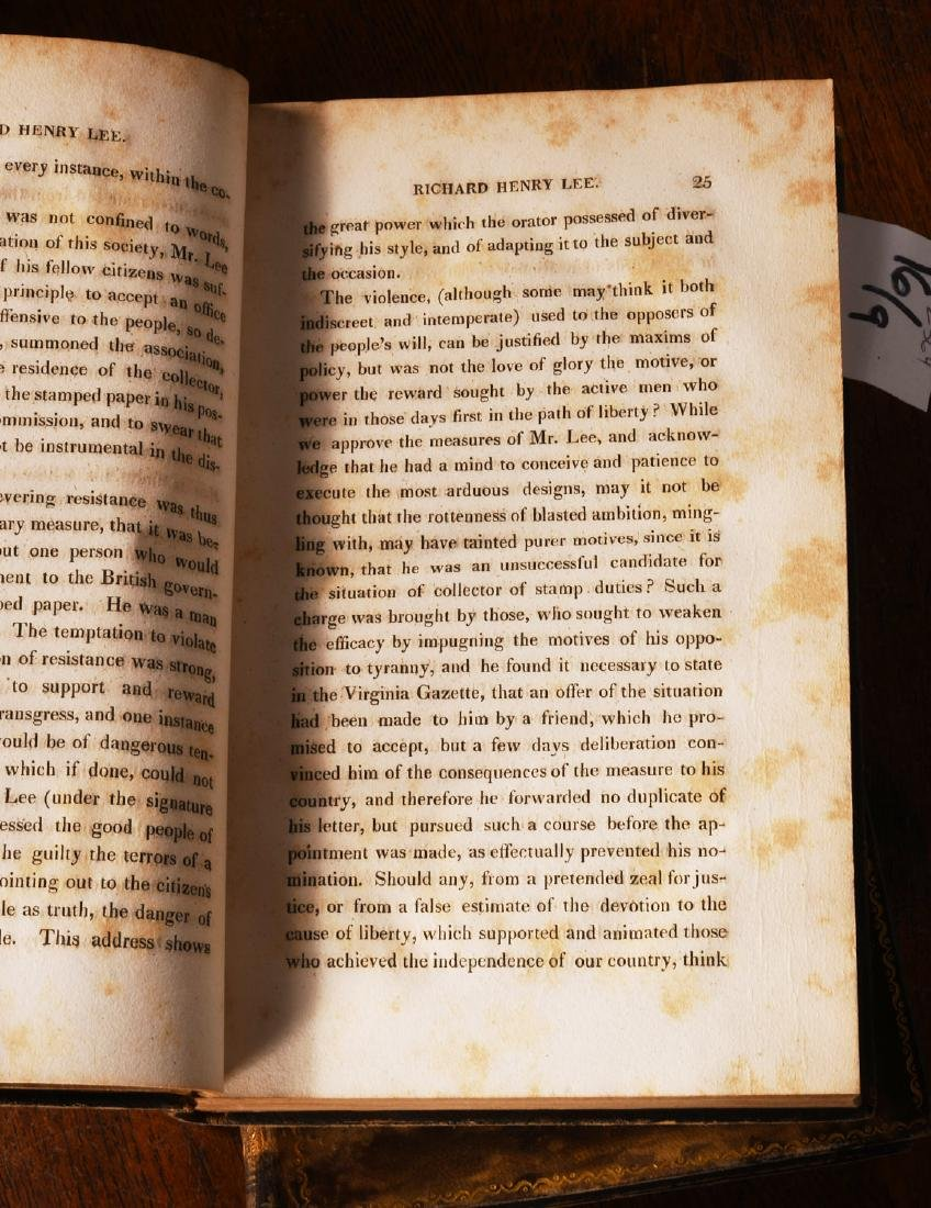 BOOKS: (9) Vols 1820 Signers of the Declaration - 7
