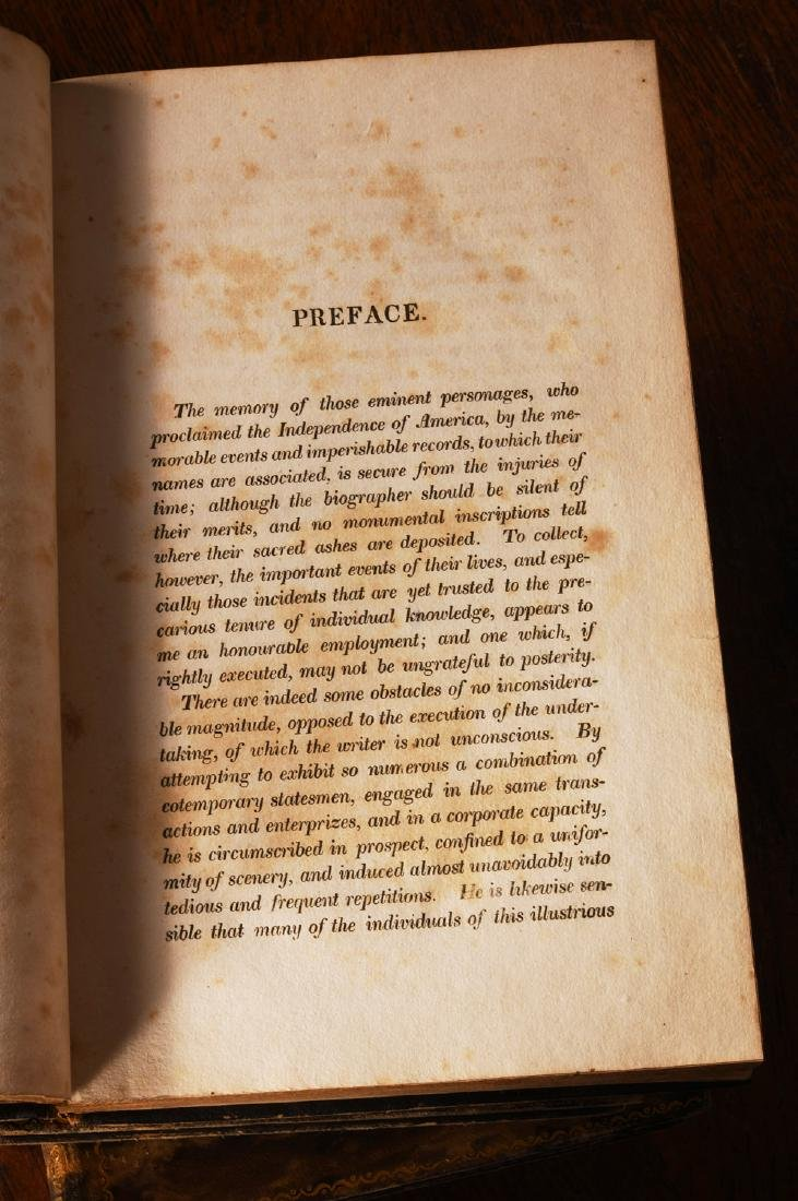 BOOKS: (9) Vols 1820 Signers of the Declaration - 8
