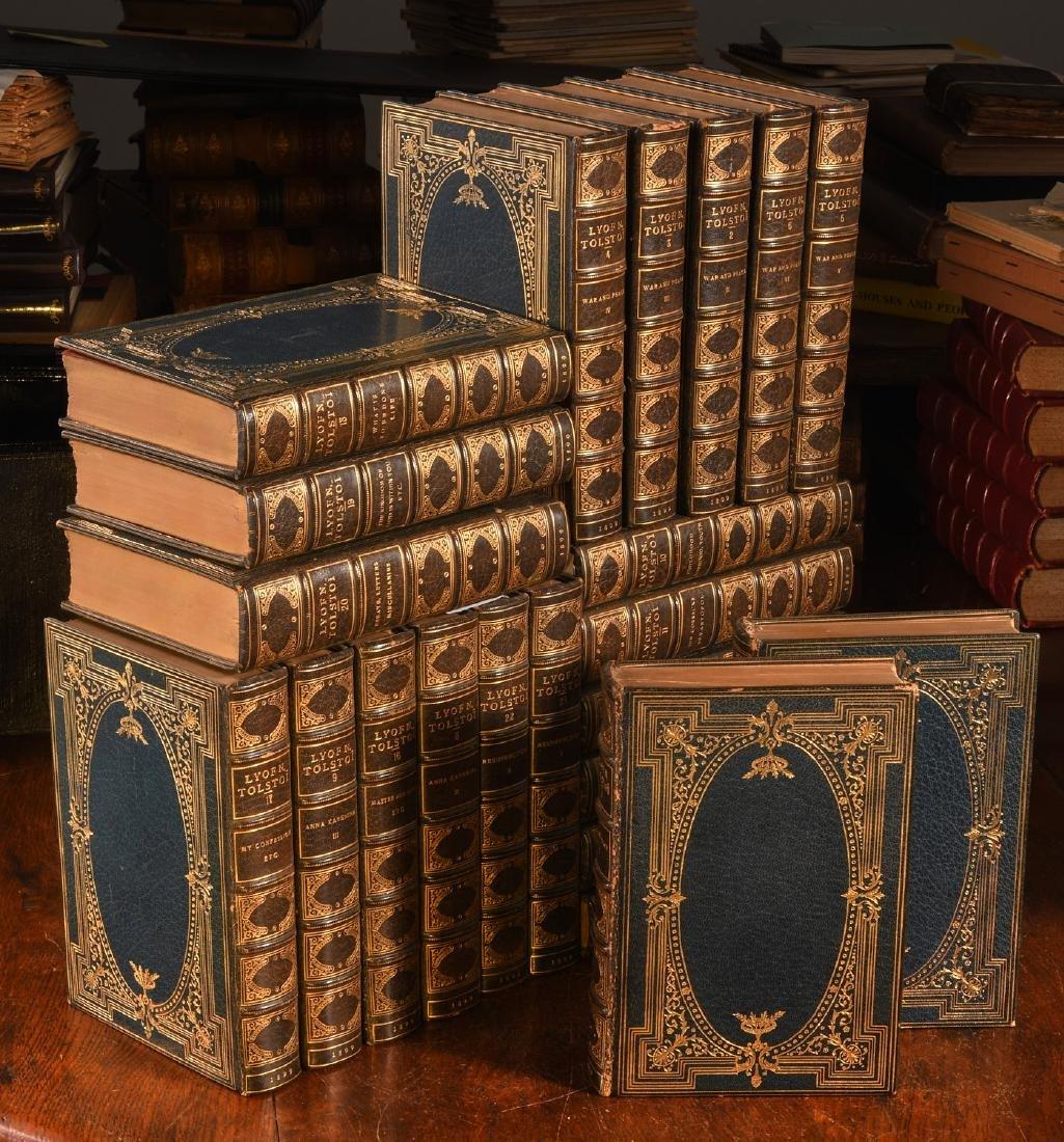 BOOKS: (22) Vols Tolstoy #1/24 SIGNED 1906