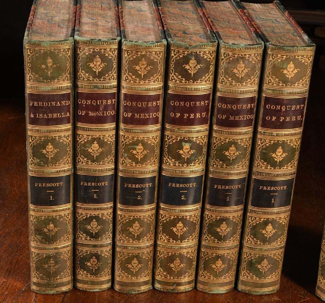BOOKS: (12) Vols 1873 Prescott Works Fine Binding - 2