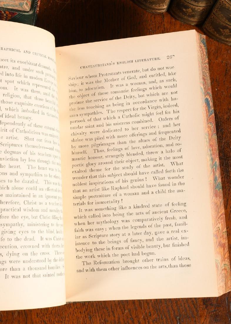 BOOKS: (12) Vols 1873 Prescott Works Fine Binding - 7