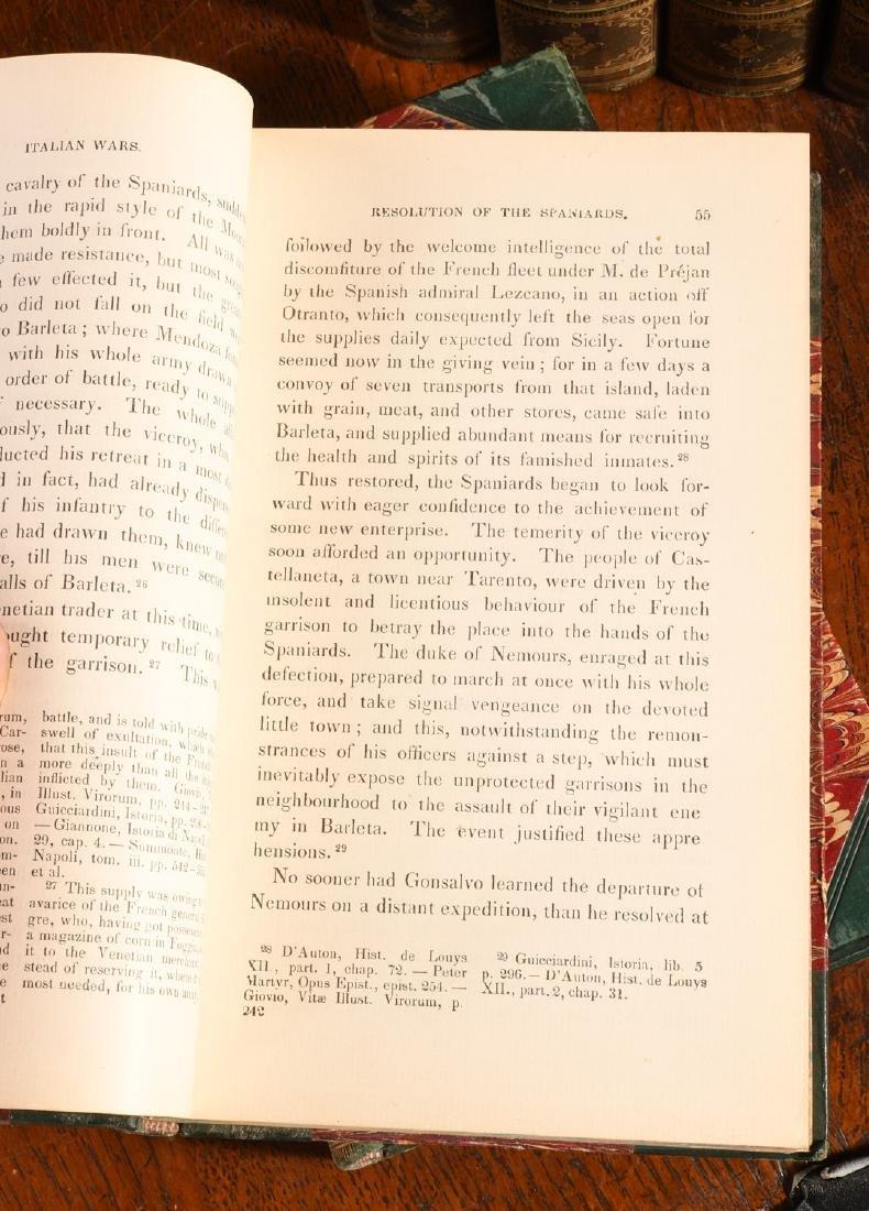 BOOKS: (12) Vols 1873 Prescott Works Fine Binding - 8