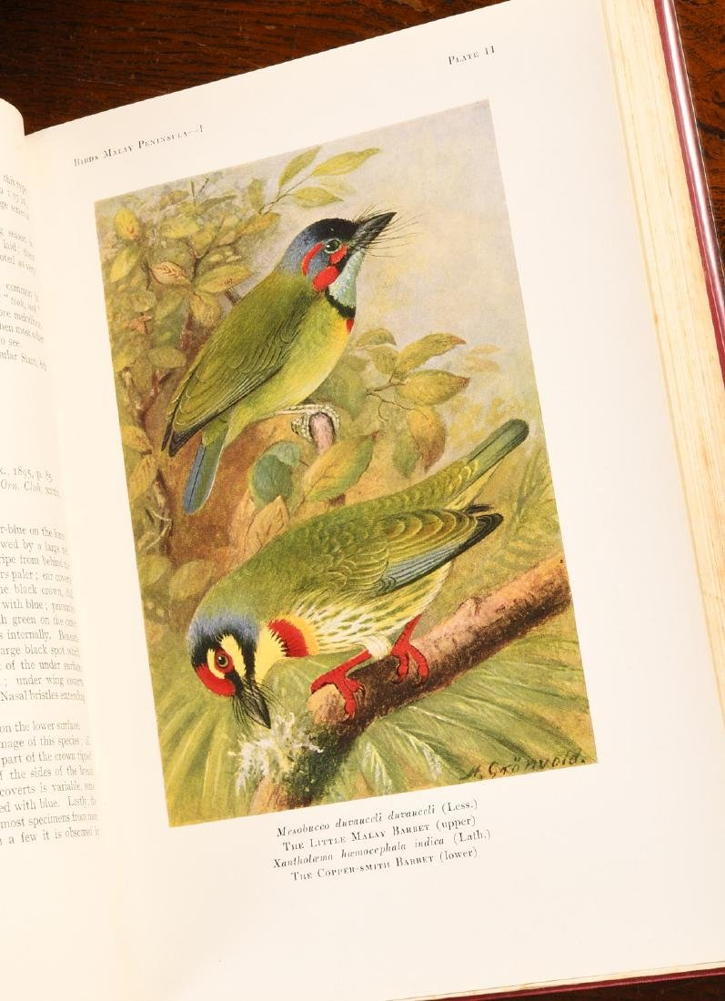 BOOKS: (5) Vols 1927 Birds of Malay Peninsula - 6