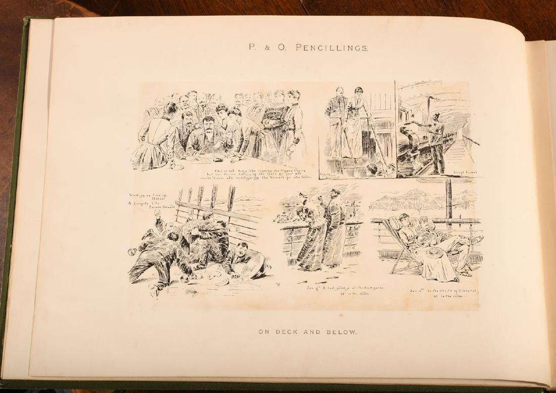 BOOKS: Steamships P&O Pencillings 1891 W.W. Lloyd - 5