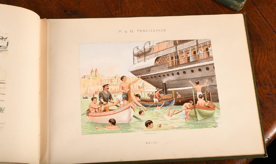 BOOKS: Steamships P&O Pencillings 1891 W.W. Lloyd - 6