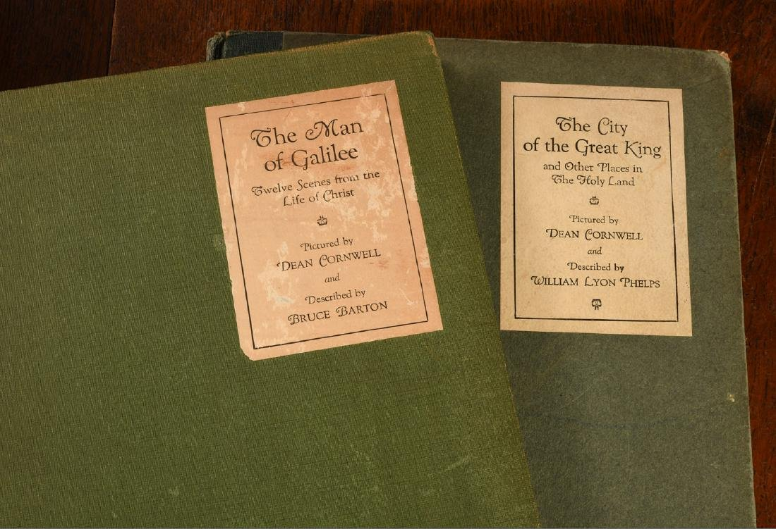 BOOKS: (2) Vols SIGNED Dean Cornwell 1926 1928 - 2