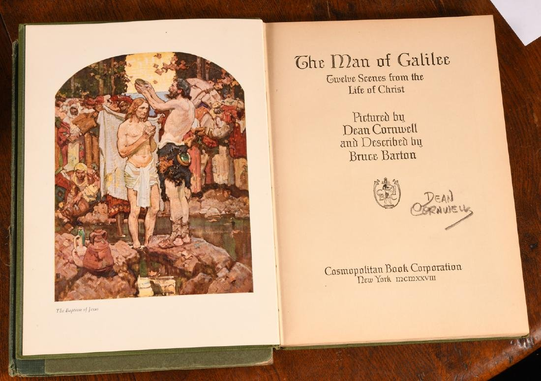 BOOKS: (2) Vols SIGNED Dean Cornwell 1926 1928 - 3