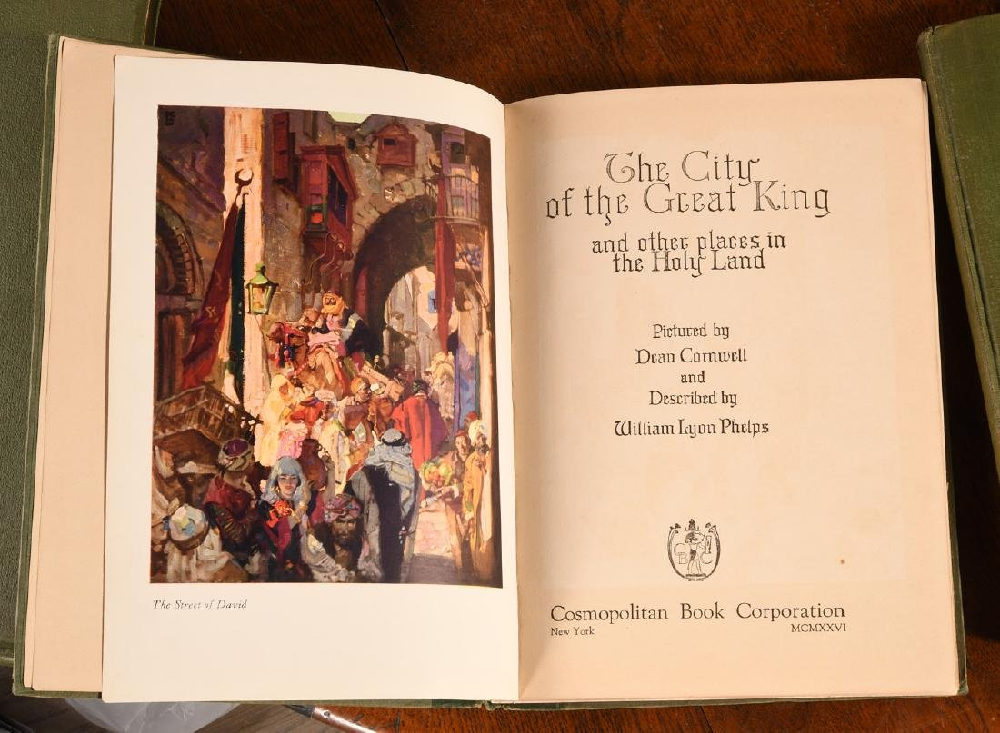 BOOKS: (2) Vols SIGNED Dean Cornwell 1926 1928 - 6