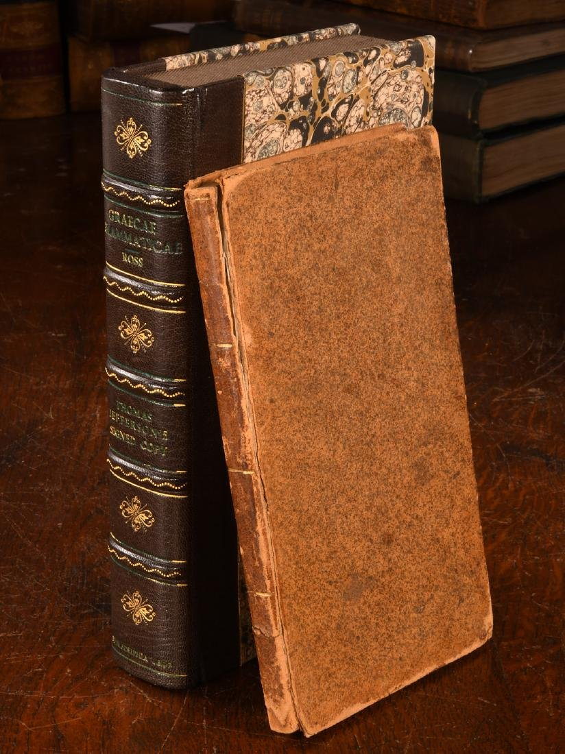 """THOMAS JEFFERSON Owned Book, His Initialed """"T"""""""