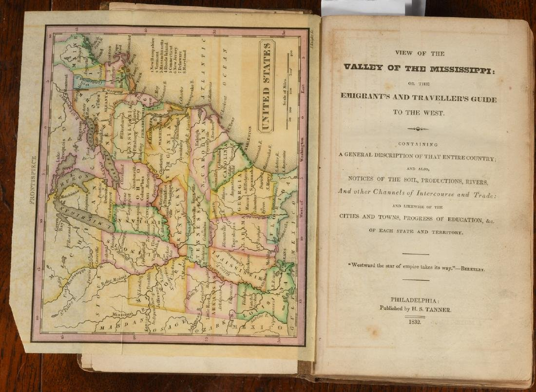 BOOKS: Valley of the Mississippi 1832 Color Maps - 2