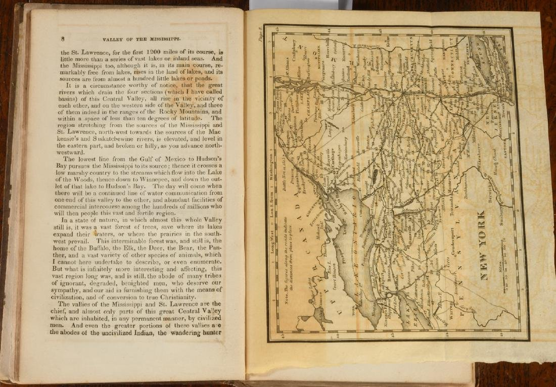 BOOKS: Valley of the Mississippi 1832 Color Maps - 3