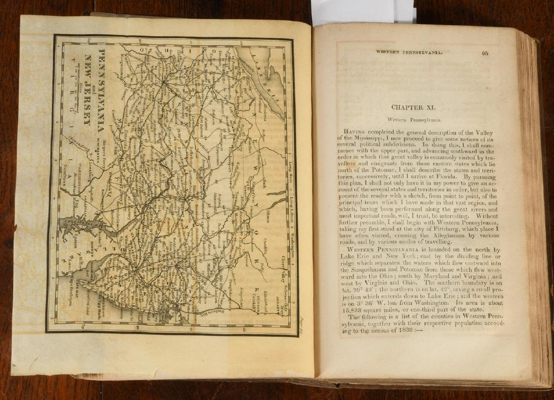 BOOKS: Valley of the Mississippi 1832 Color Maps - 4
