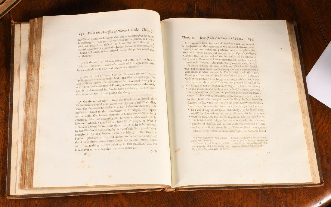 BOOKS: (4) Vols 1796 Precedents House of Commons - 4
