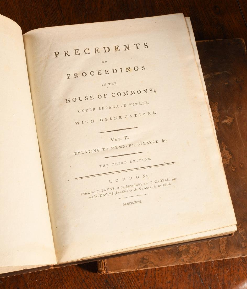 BOOKS: (4) Vols 1796 Precedents House of Commons - 5
