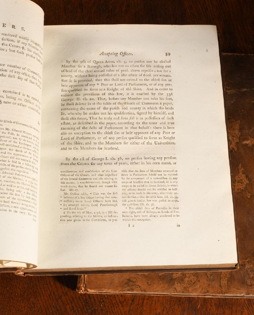 BOOKS: (4) Vols 1796 Precedents House of Commons - 6