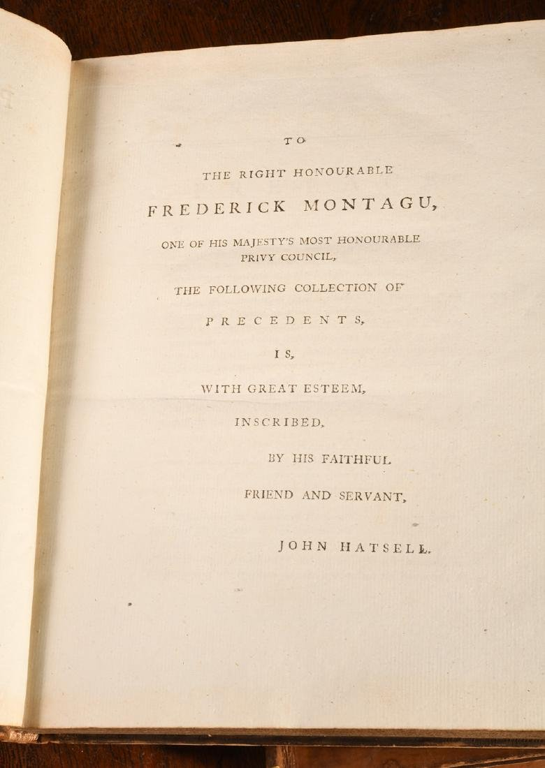 BOOKS: (4) Vols 1796 Precedents House of Commons - 7