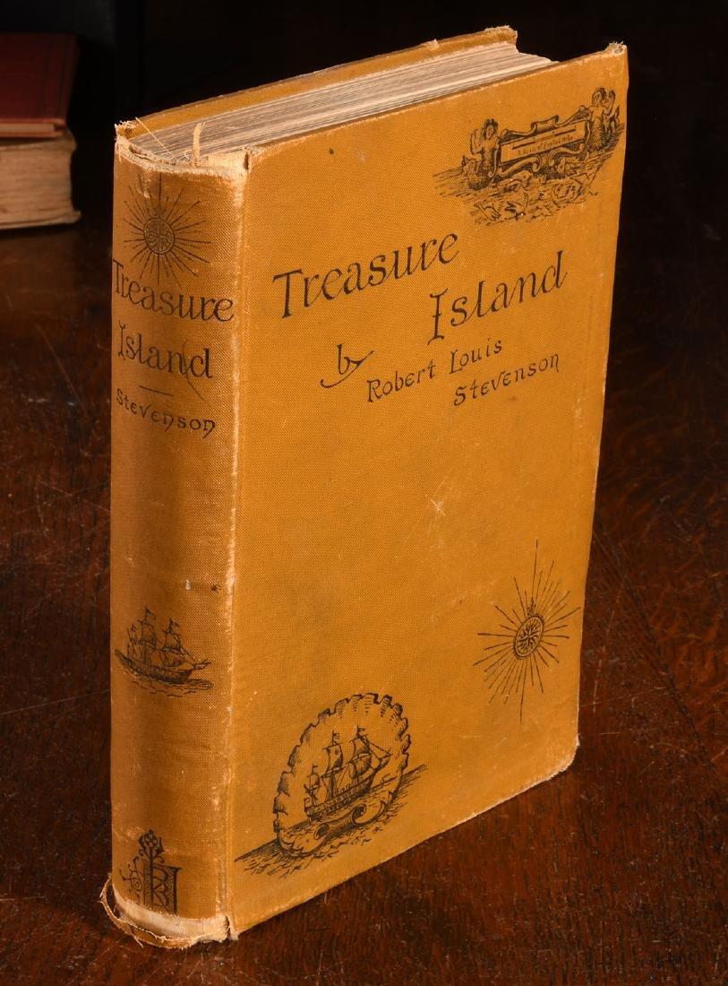 BOOKS: Stevenson 1884 Treasure Island 1st Am Ed