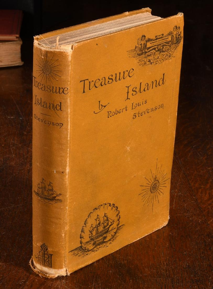 BOOKS: Stevenson 1884 Treasure Island 1st Am Ed