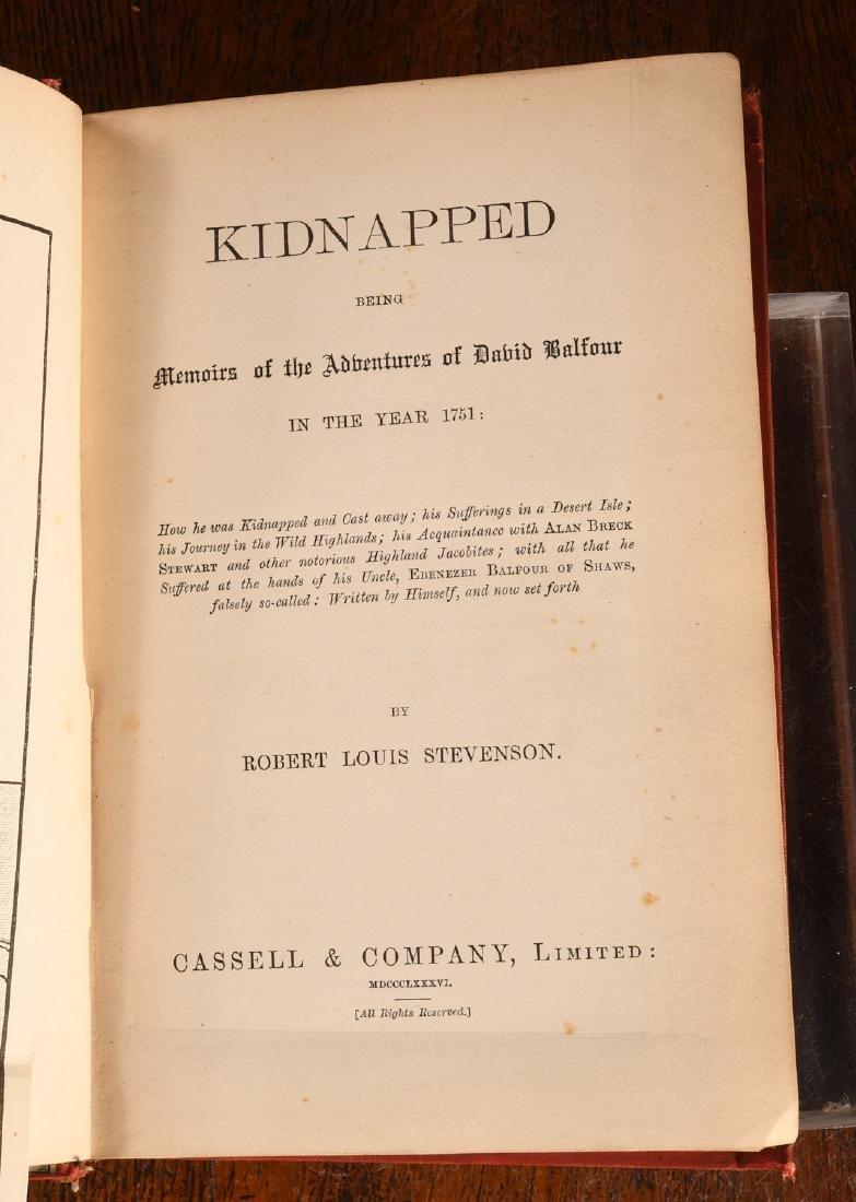 BOOKS: Stevenson 1886 Kidnapped 1st Ed Cassell - 5