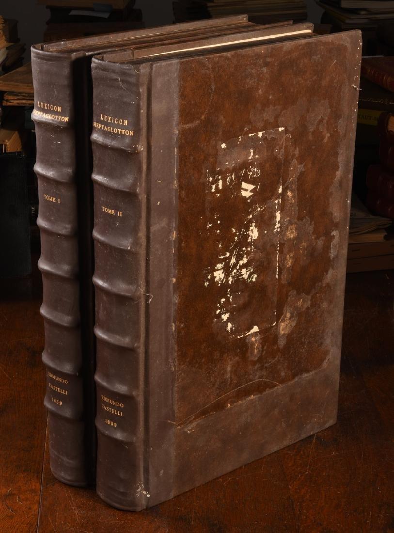 BOOKS: (2) Vols Lexicon Heptaglotton 1669 Roycroft