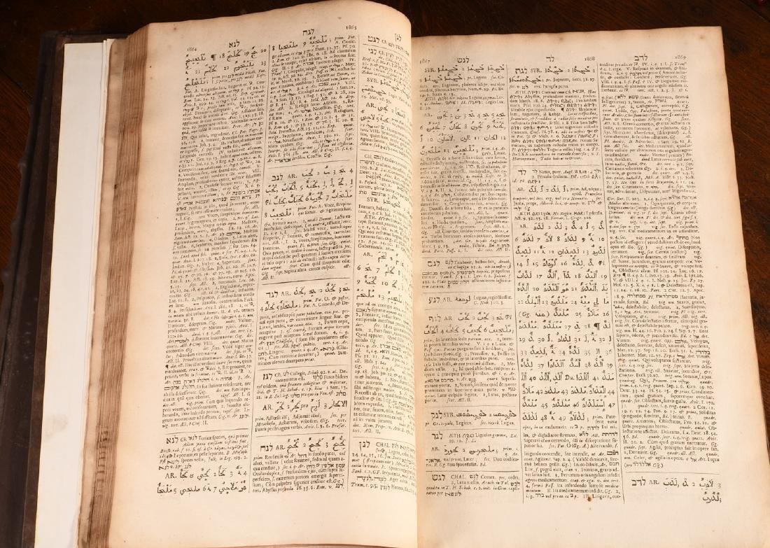 BOOKS: (2) Vols Lexicon Heptaglotton 1669 Roycroft - 6